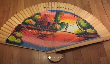 Handpainted Huge fan from the Philipines . For decoration but can be σε Rest of Attica